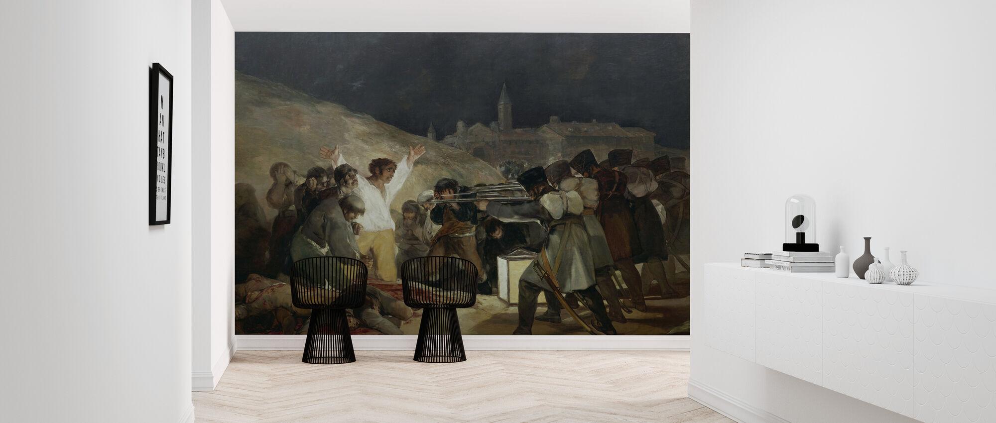 Francisco Goya - Uitvoering van 3 mei - Behang - Gang