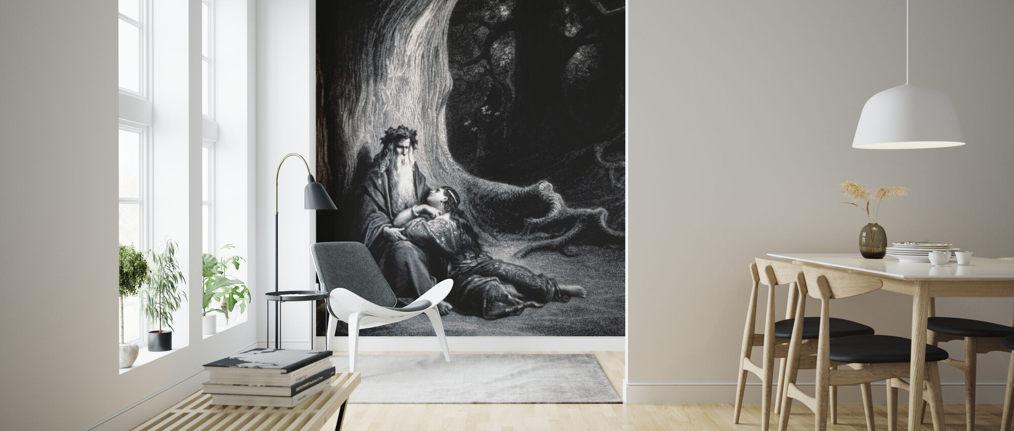 Gustave Dore - Erovringen av Graal - Papier peint - Salle à manger