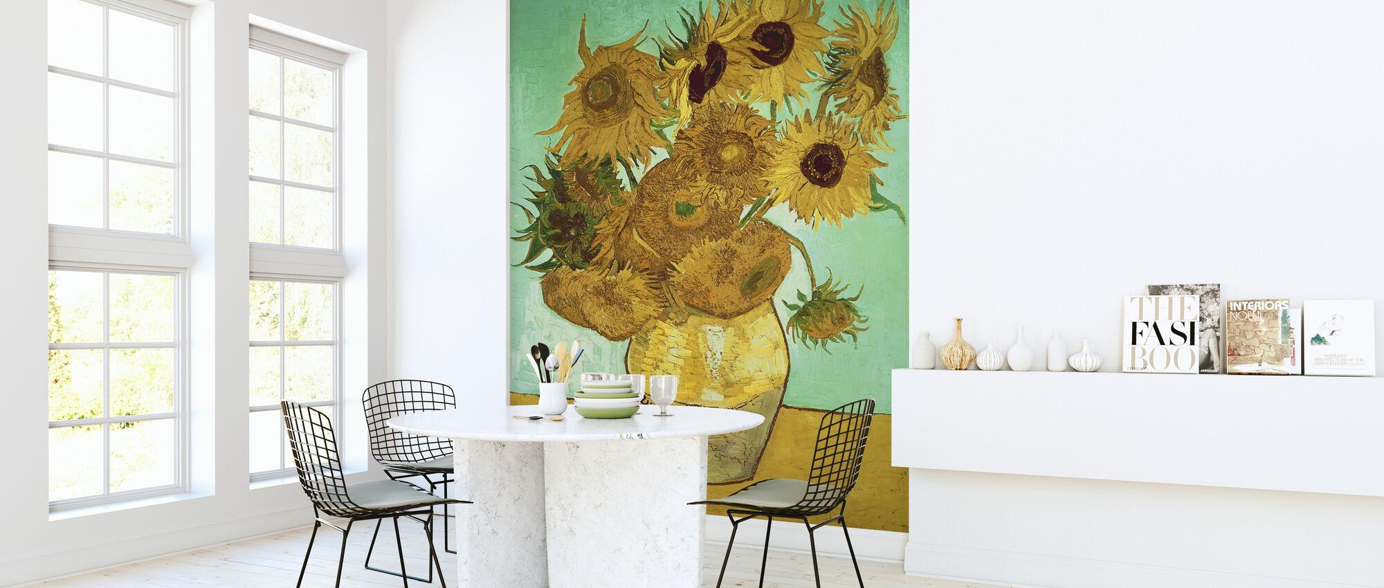 Auringonkukkia - Vincent Van Gogh - Tapetti - Keittiö