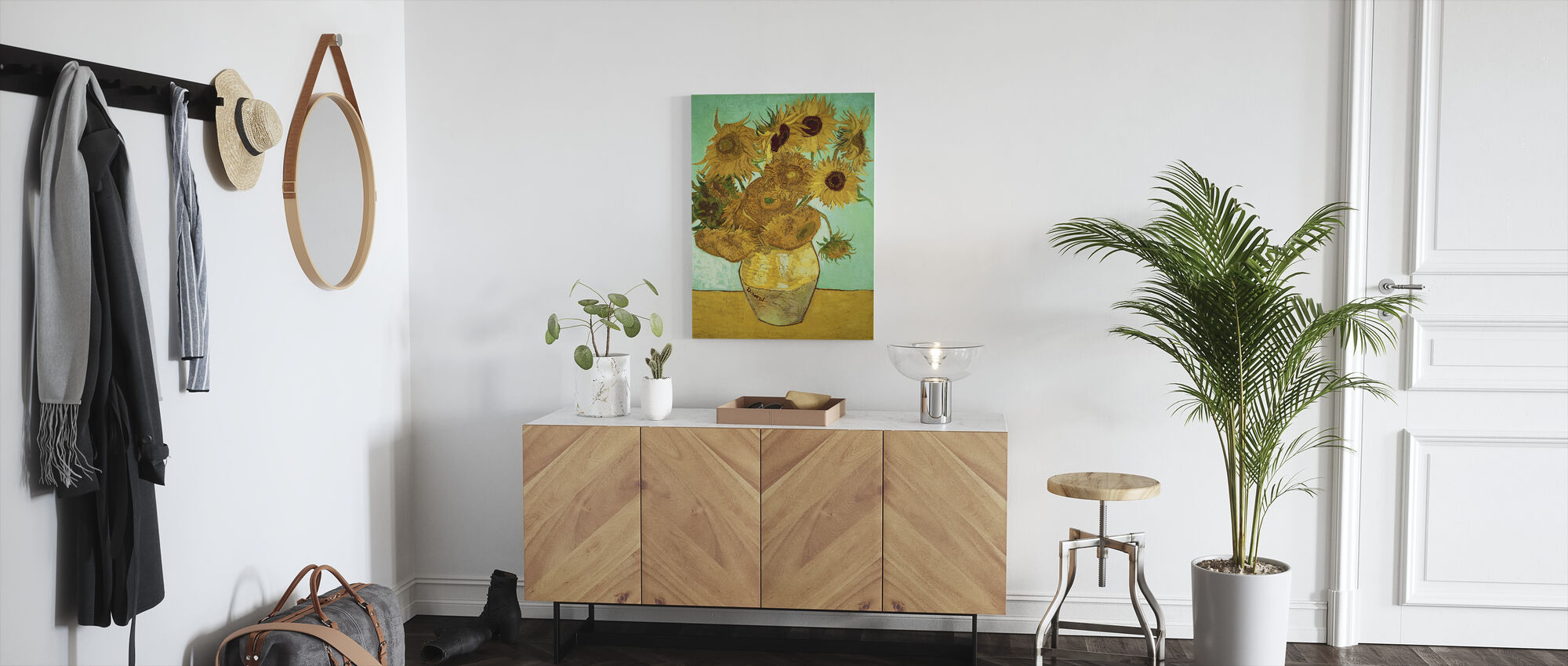 Sunflowers - Vincent Van Gogh - Canvas print - Hallway