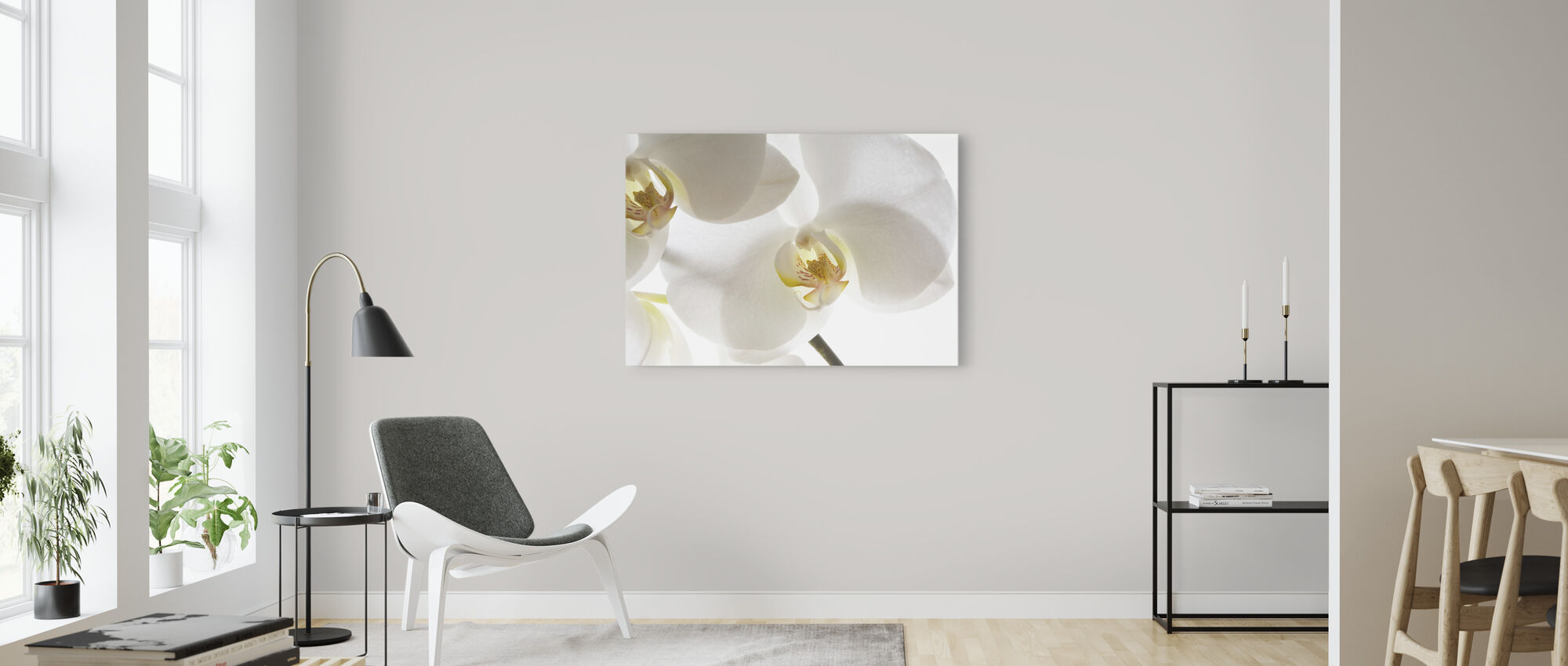 White Orchids - Canvas print - Living Room