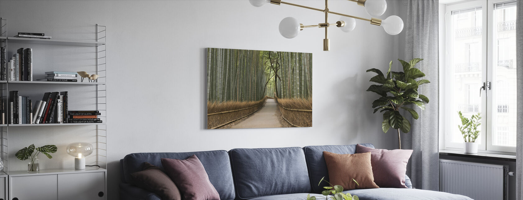 Tenryu-ji Temple Passage - Canvas print - Living Room