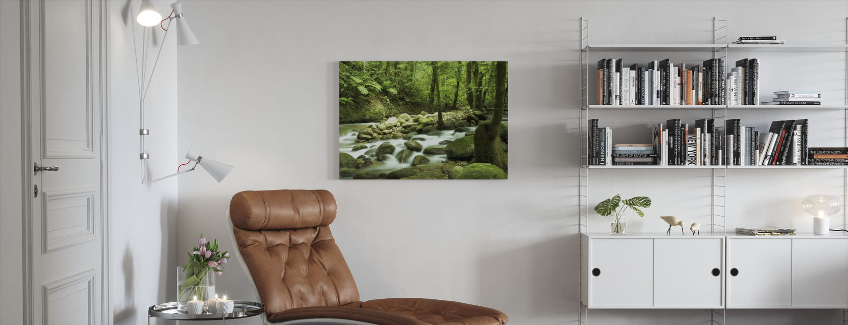 Mountain Waterfall - Canvas print - Living Room