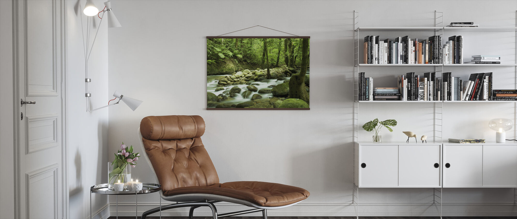 Mountain Waterfall - Poster - Living Room