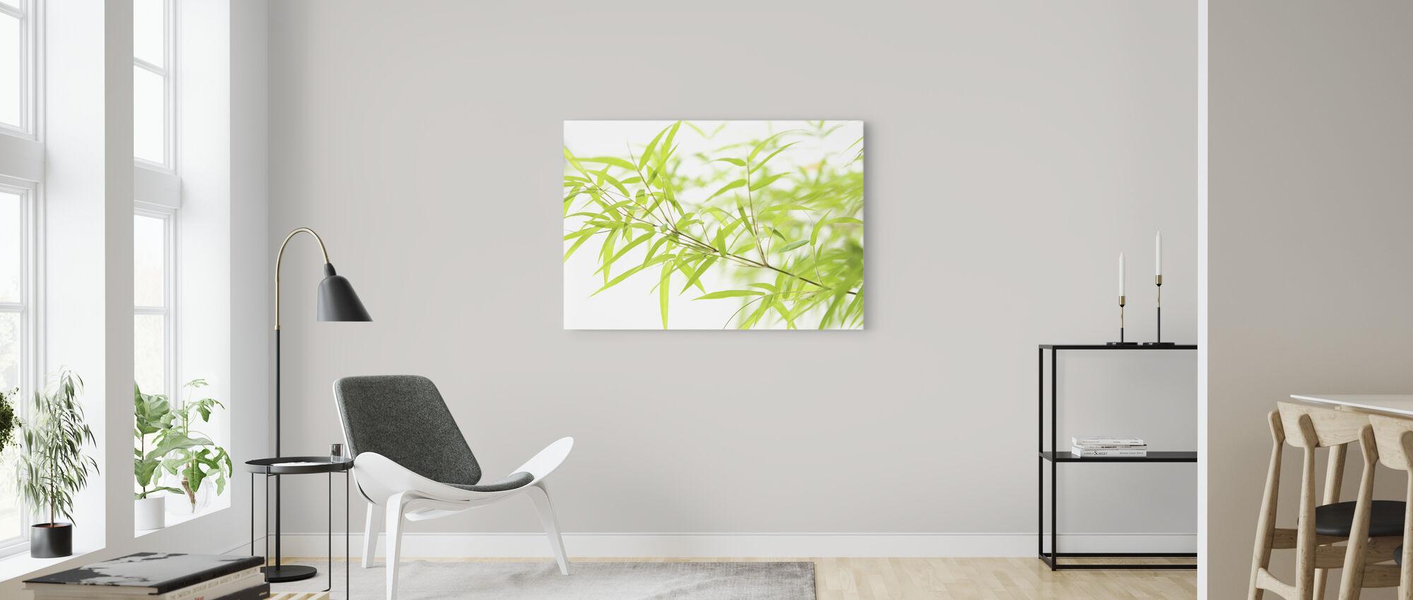 Miniature Bamboo - Canvas print - Living Room