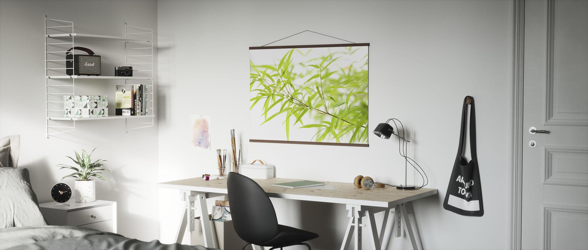 Miniatuur Bamboe - Poster - Kantoor