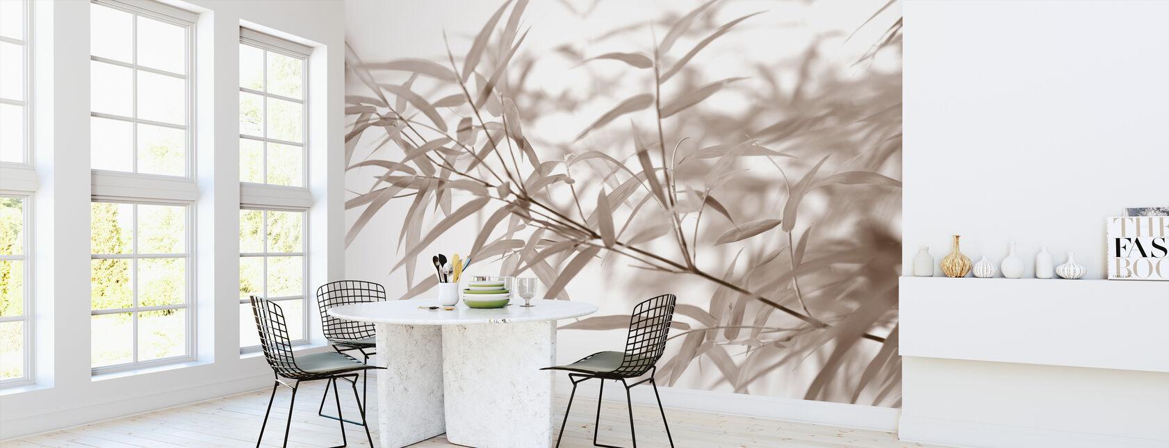 Miniatuur Bamboe - Sepia - Behang - Keuken