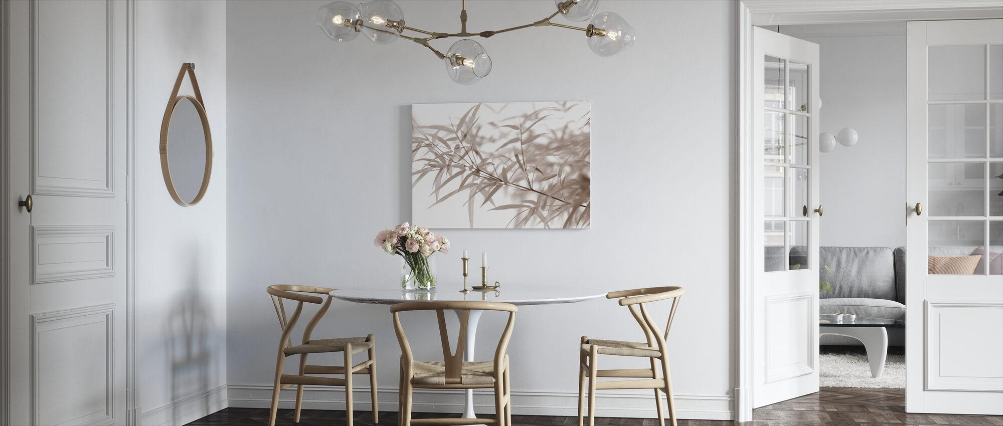 Miniatyyri Bambu - Sepia - Canvastaulu - Keittiö