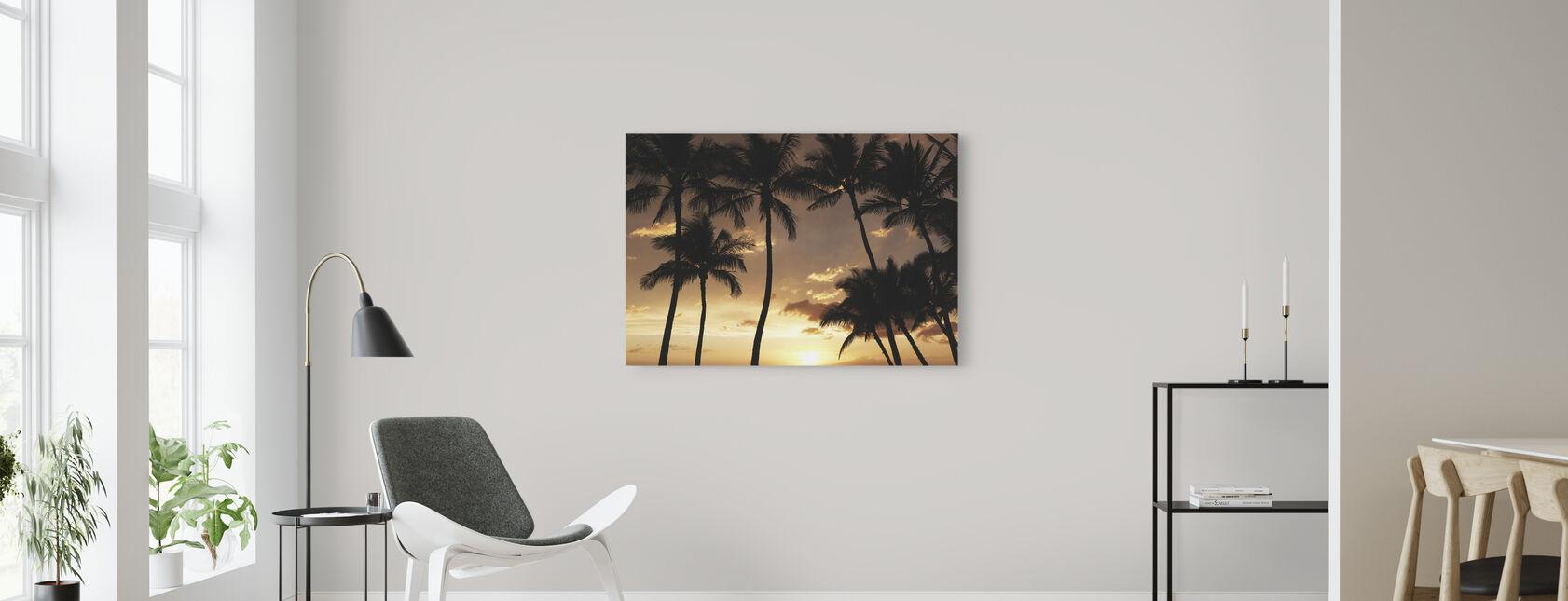 Hawaii Sunset - Canvas print - Living Room