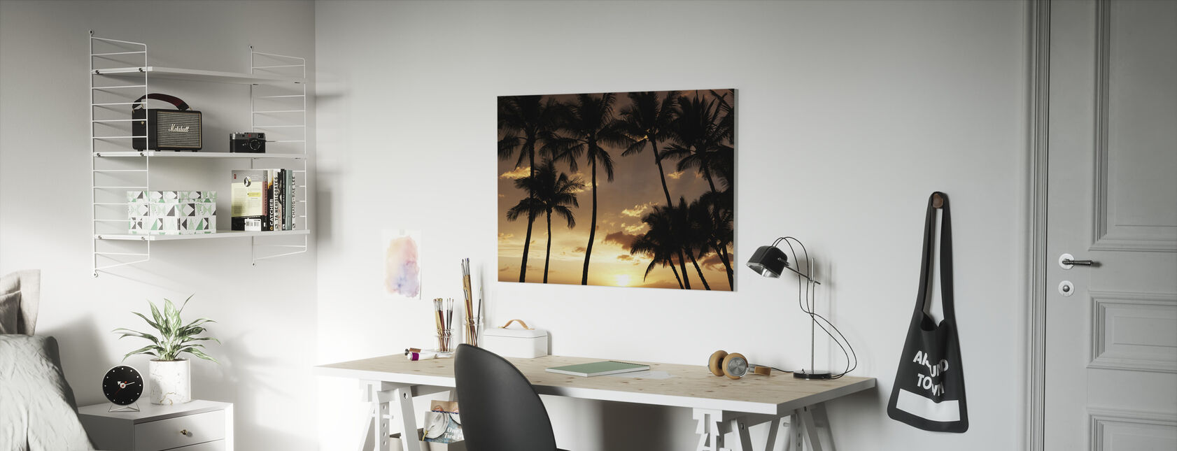 Hawaii Sunset - Canvas print - Kids Room