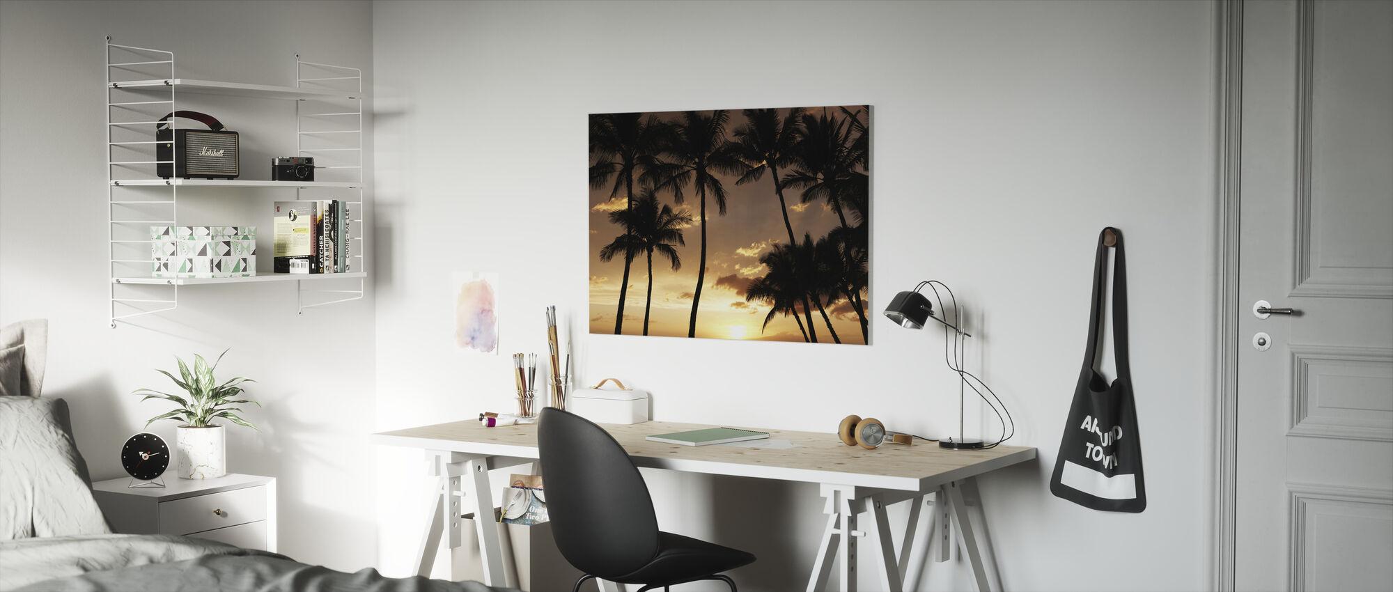 Hawaï Zonsondergang - Canvas print - Kinderkamer