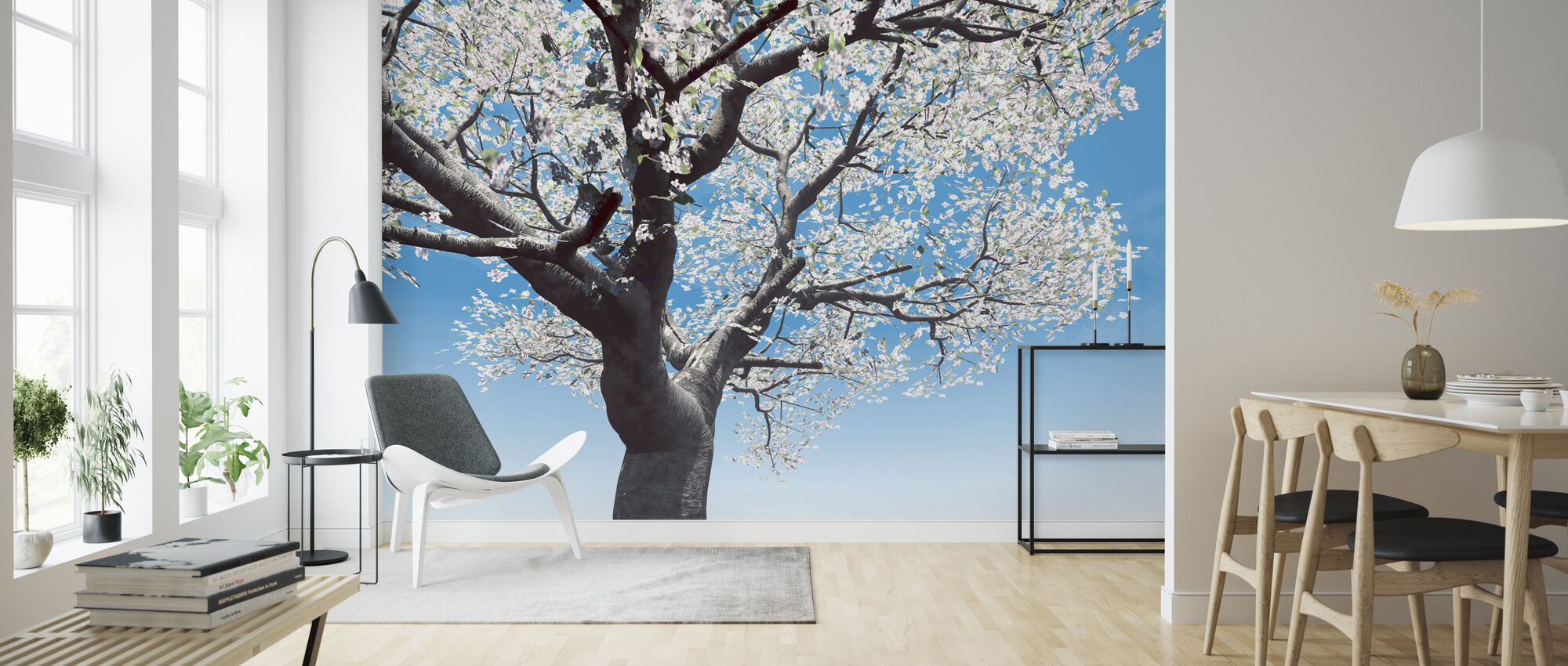 Blossoming Cherry-Tree - Wallpaper - Living Room