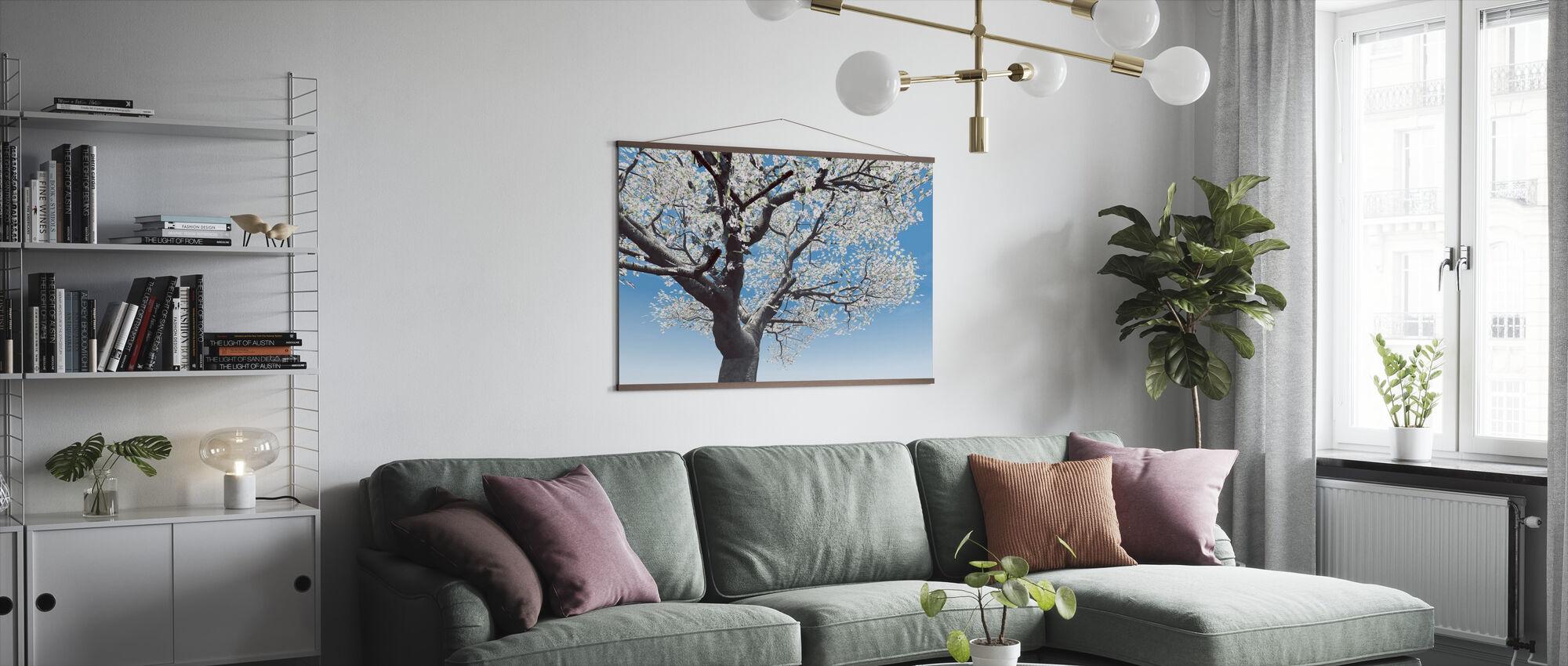 Blommande körsbärsträd - Poster - Vardagsrum