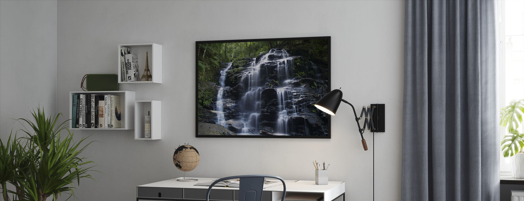 Amazon Waterfall - Framed print - Office