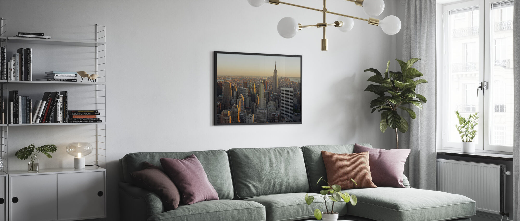 New York City, New York - Framed print - Living Room