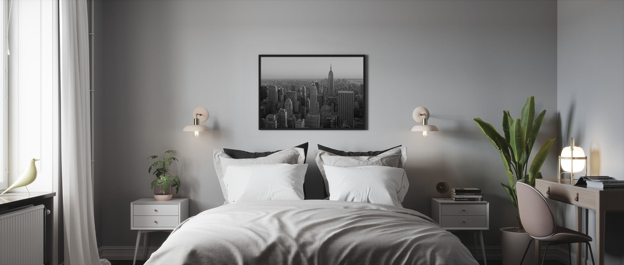 New York City, New York - Framed print - Bedroom