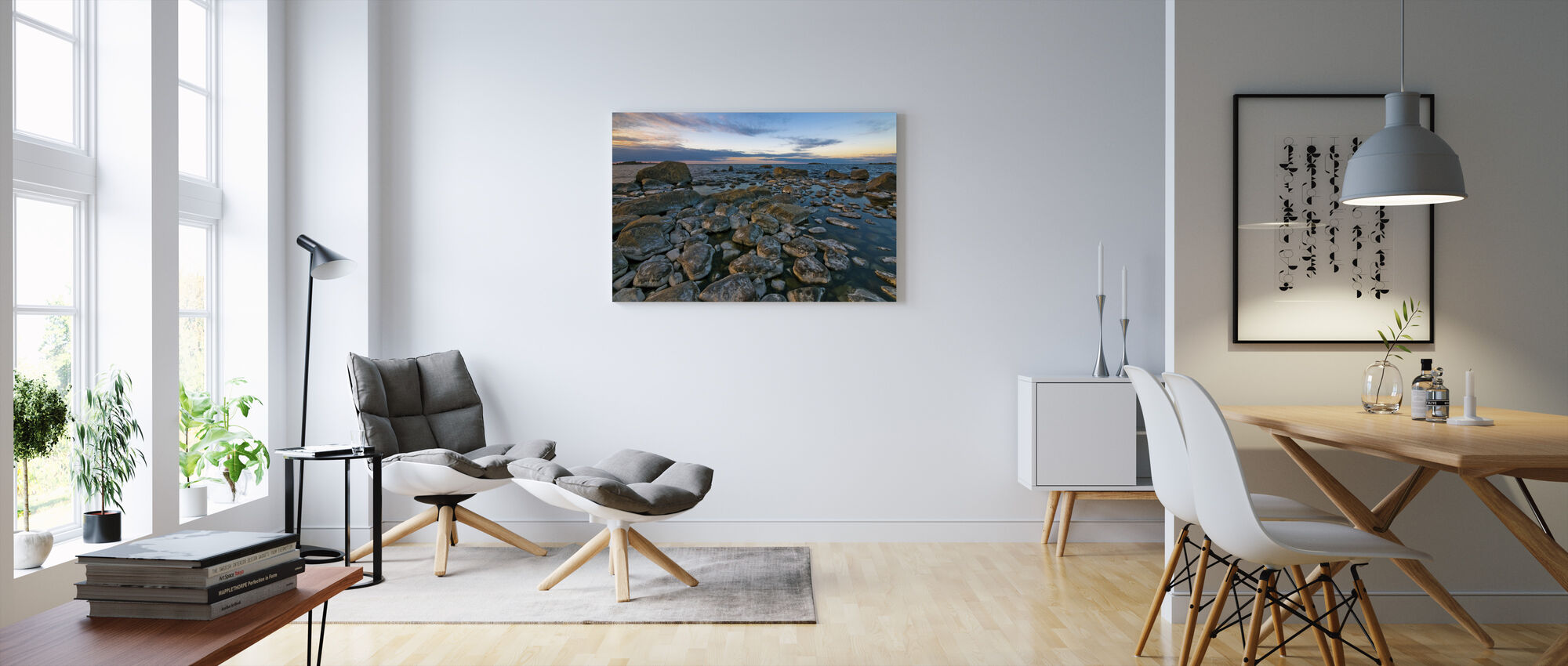 Swedish Shoreline - Canvas print - Living Room