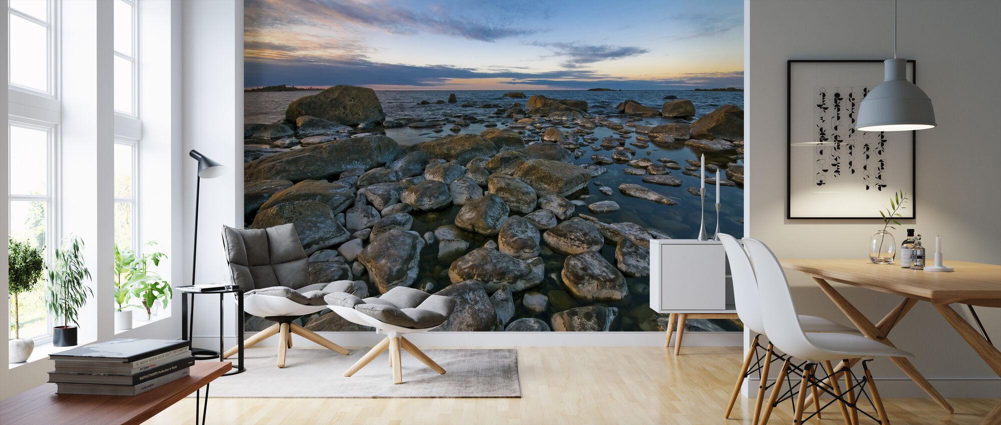 Zweedse kustlijn - Behang - Woonkamer