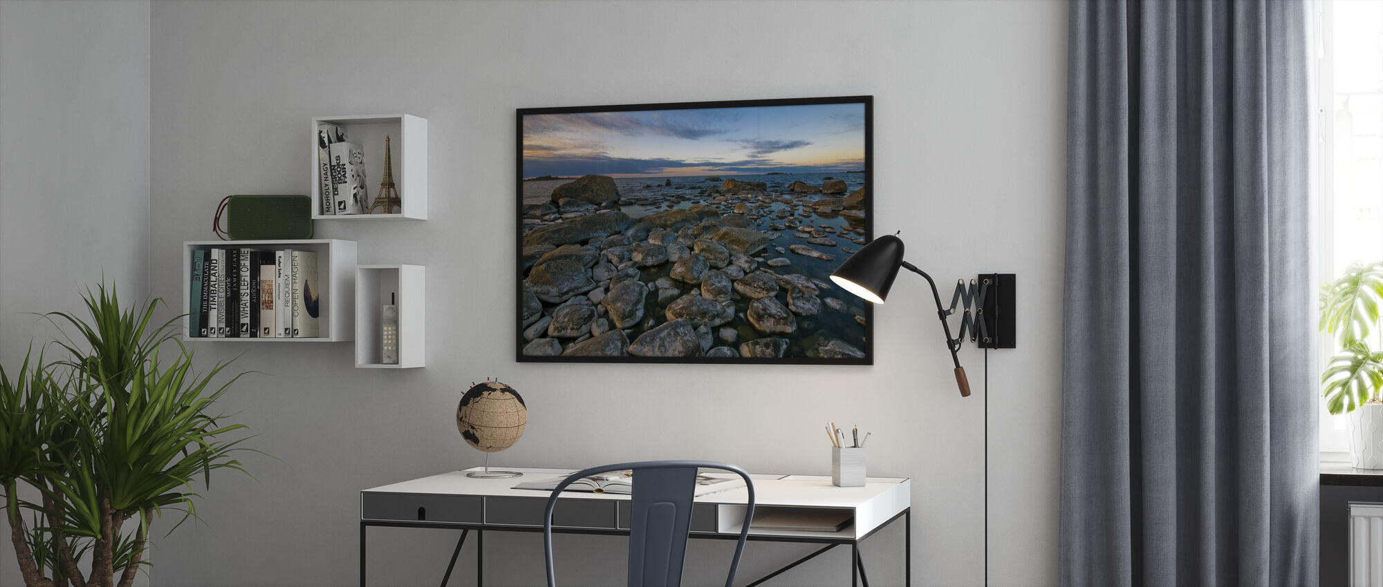 Swedish Shoreline - Framed print - Office