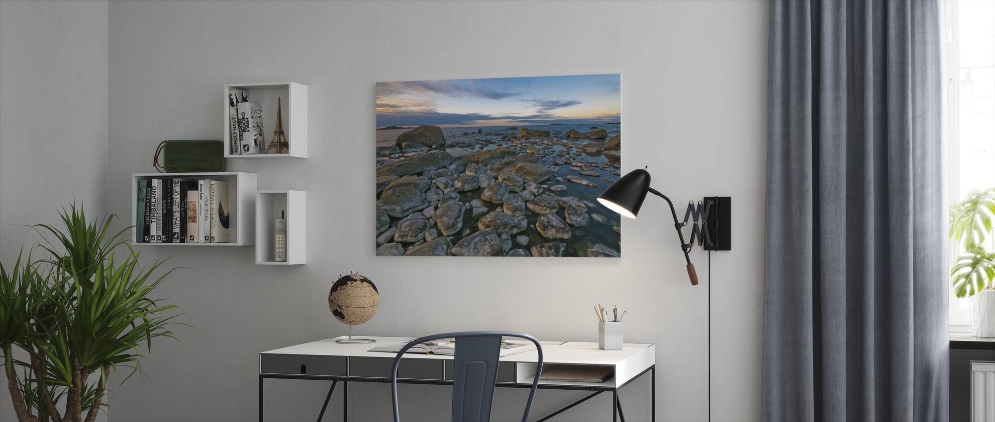 Swedish Shoreline - Canvas print - Office