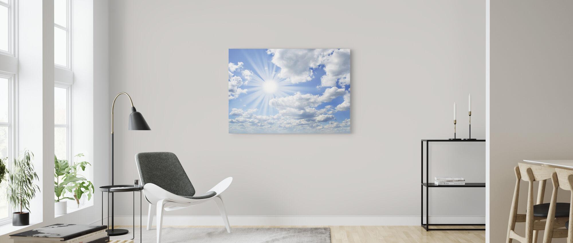 Aurinkoinen päivä - Canvastaulu - Olohuone