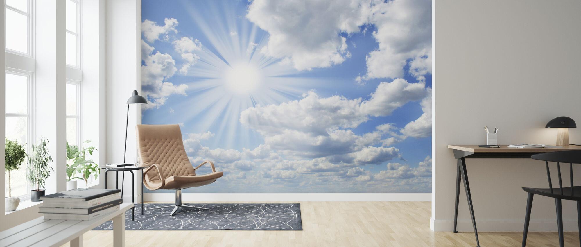 Día soleado - Papel pintado - Salón