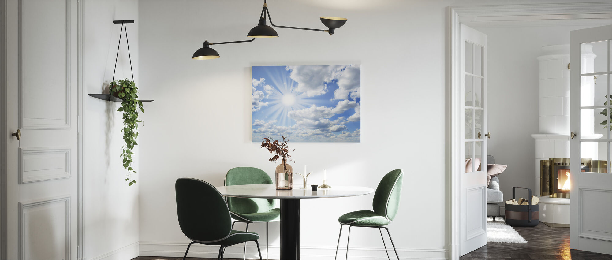 Zonnige dag - Canvas print - Keuken