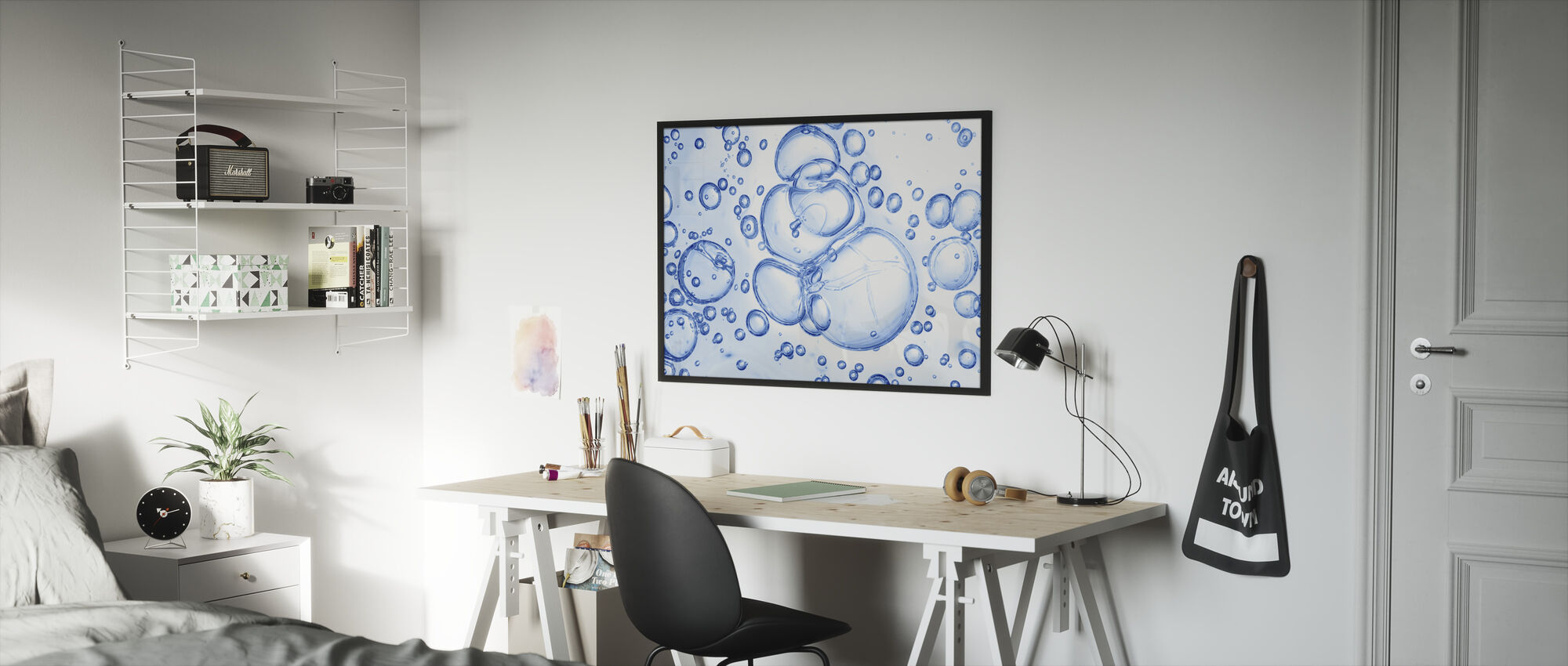 Bubbles Macro - Framed print - Kids Room