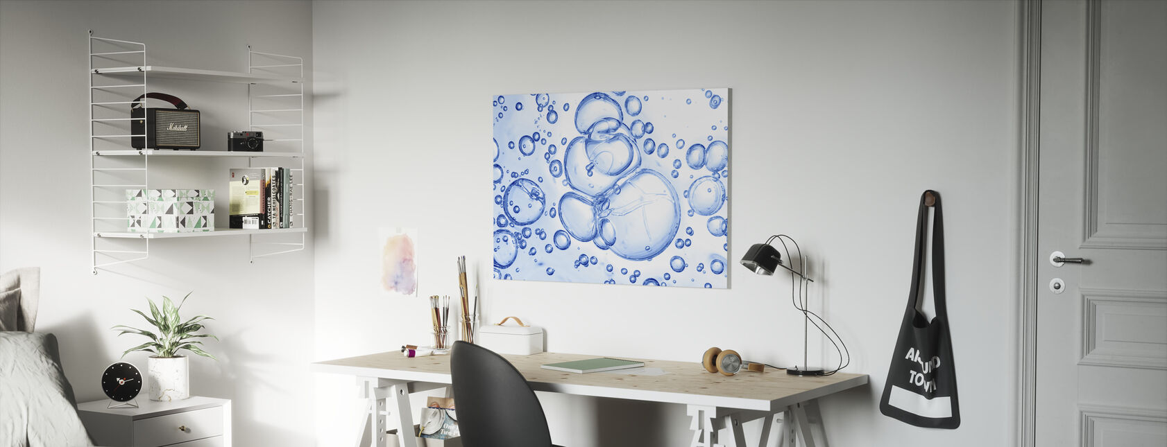 Bubbles Macro - Canvas print - Kids Room