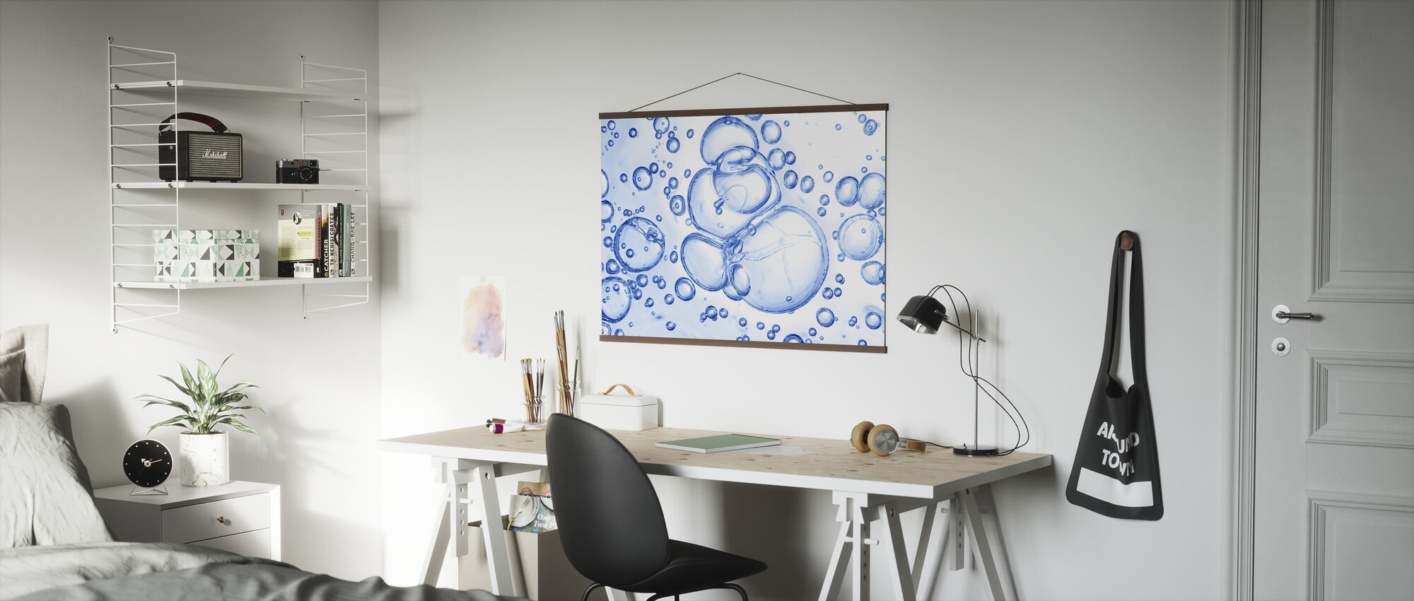 Bubbles Macro - Poster - Office