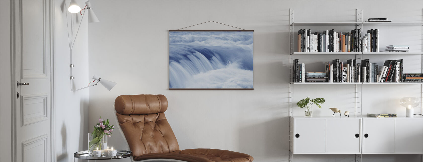 Swiftly Moving Stream - Poster - Living Room