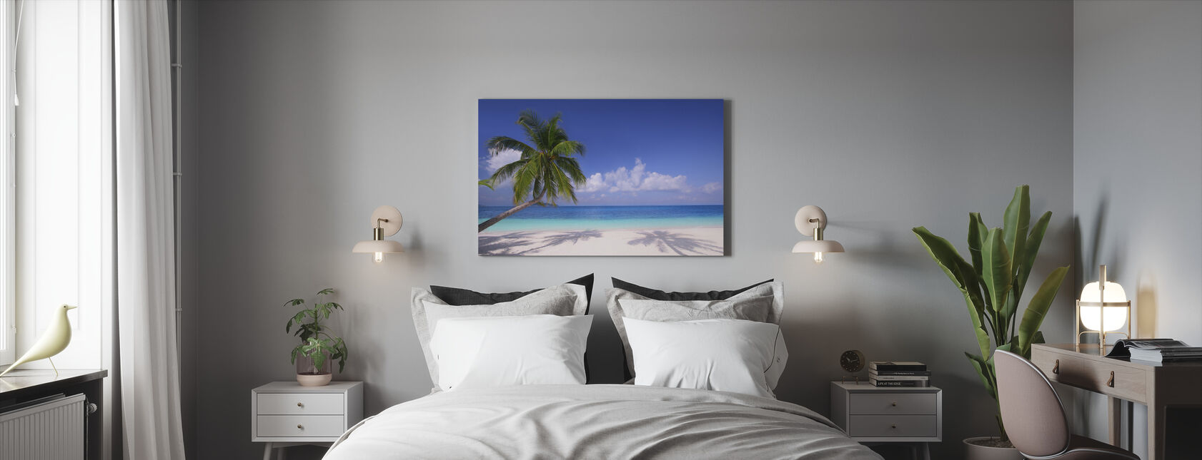 Saaren paratiisi - Canvastaulu - Makuuhuone