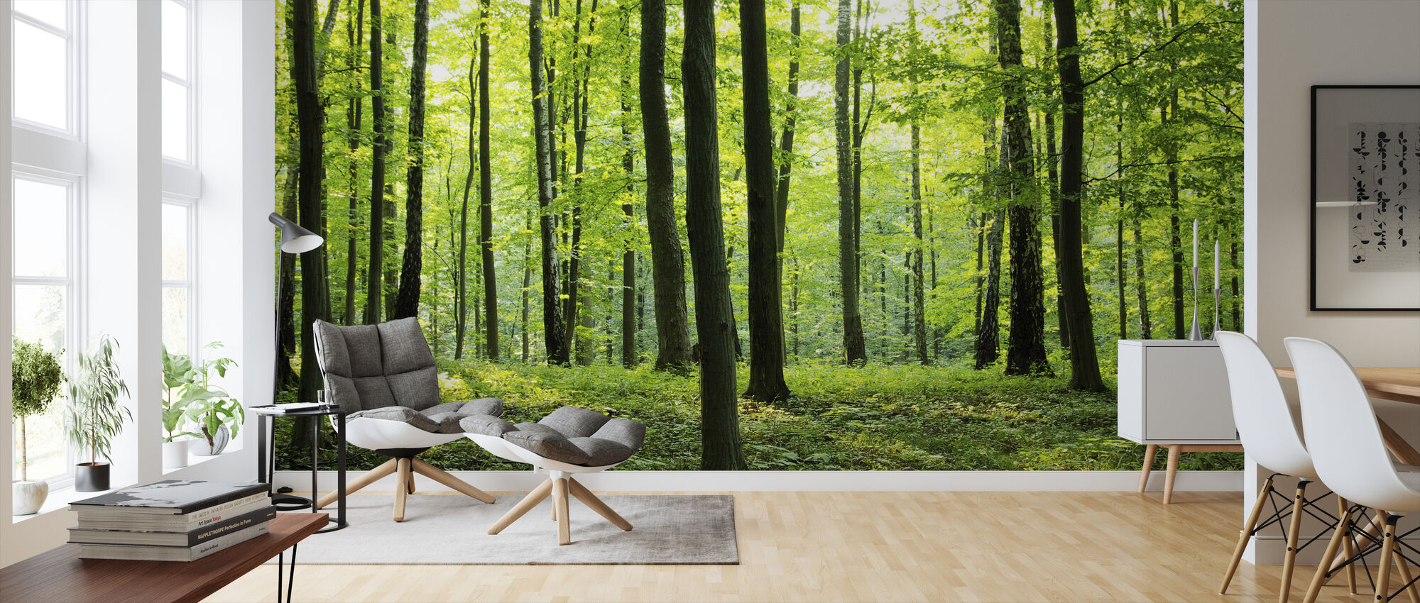 Rural Forest - Wallpaper - Living Room