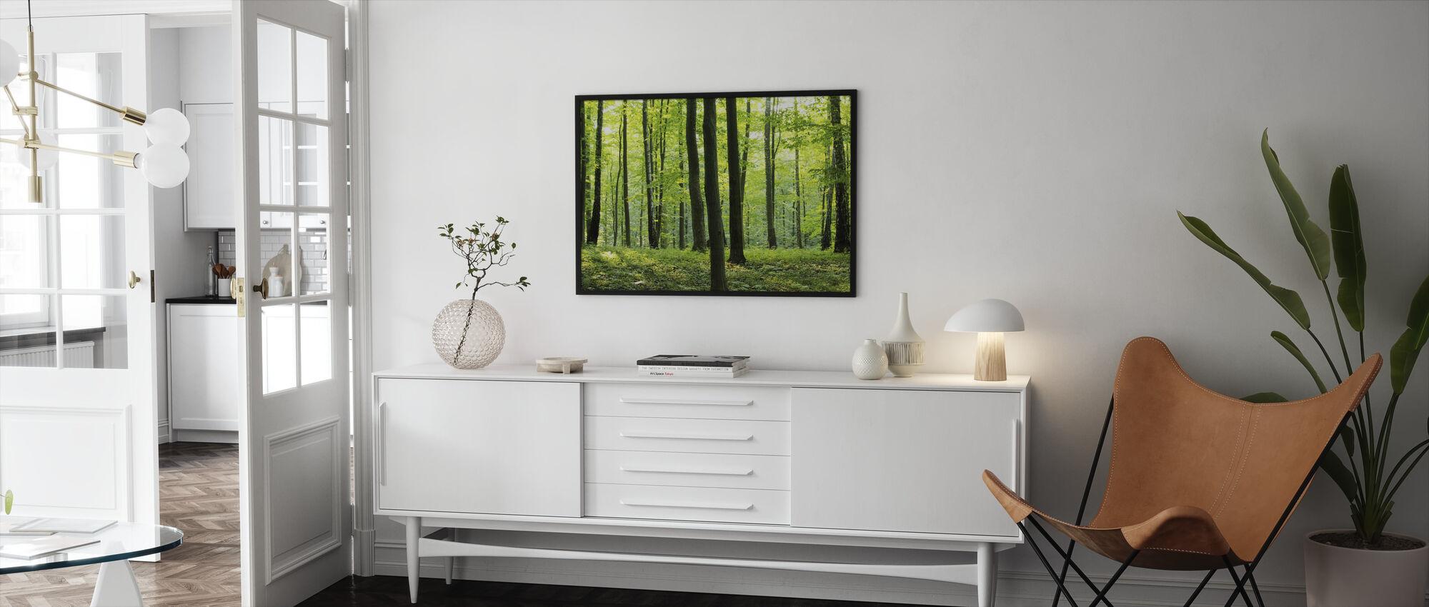 Landlige Skov - Indrammet billede - Stue
