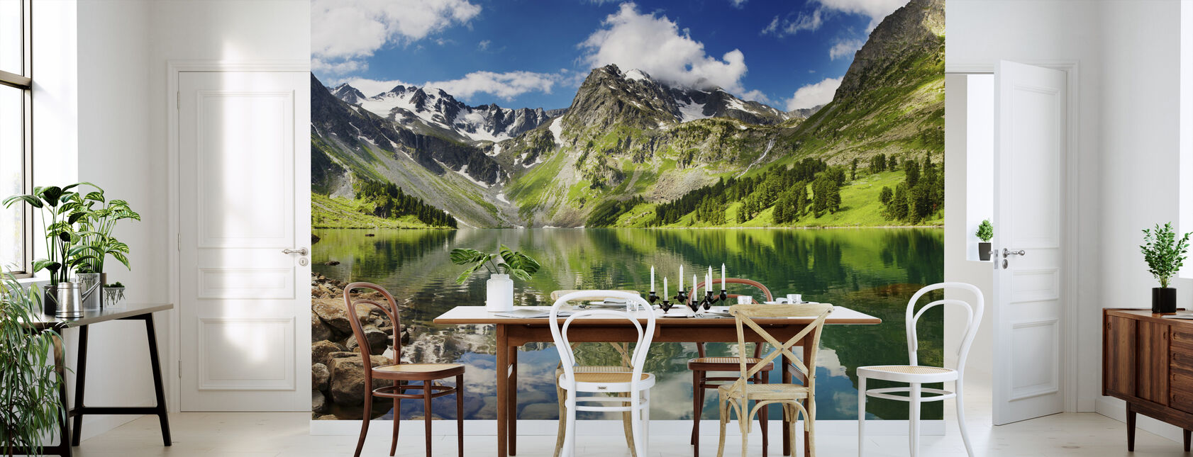Mountain Lake - Wallpaper - Kitchen