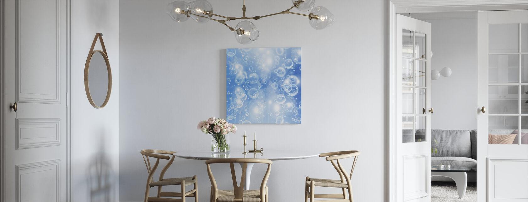 Rising air Bubbles - Canvas print - Kitchen