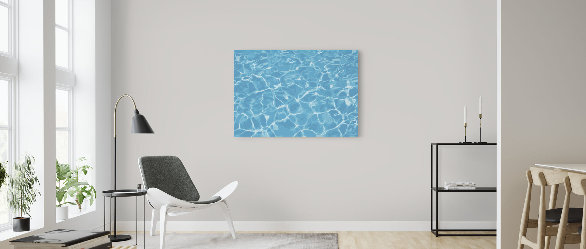 Reflection in Water - Canvas print - Living Room