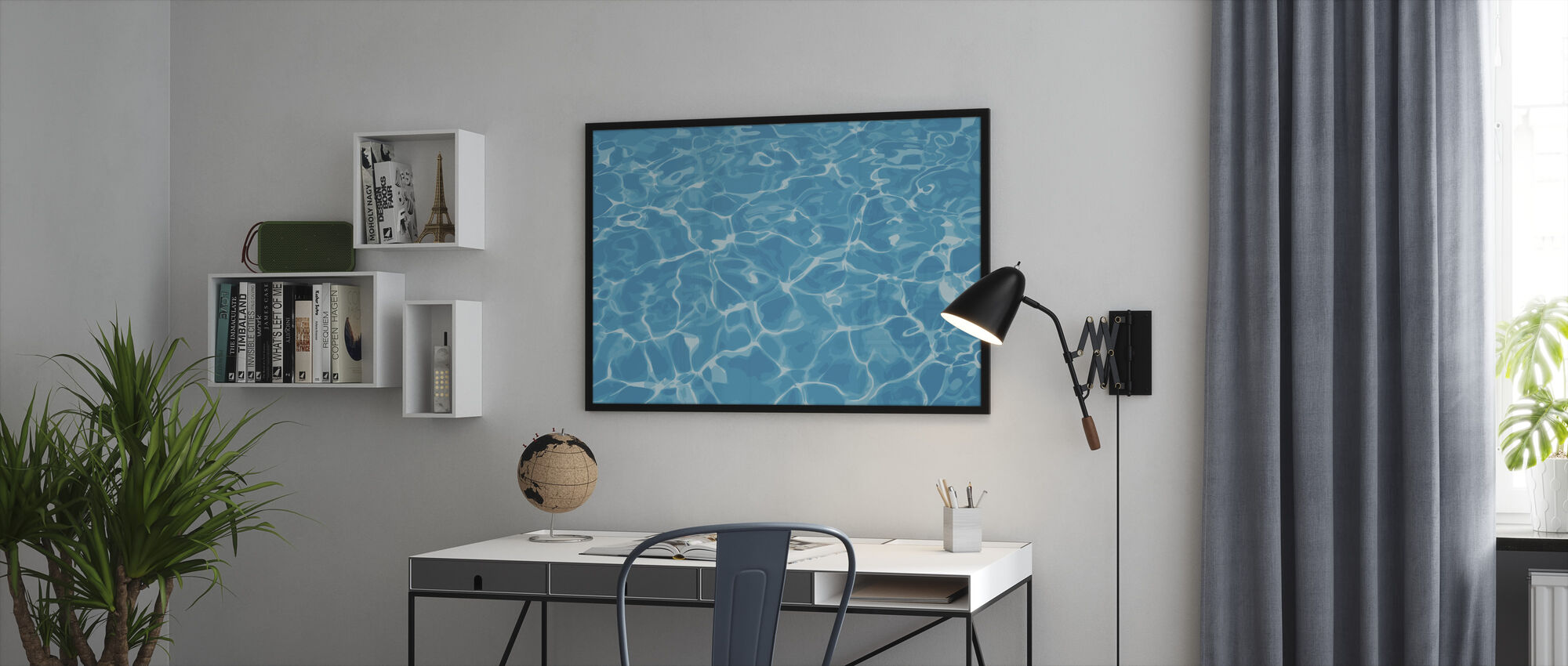 Reflexión en el agua - Print enmarcado - Oficina