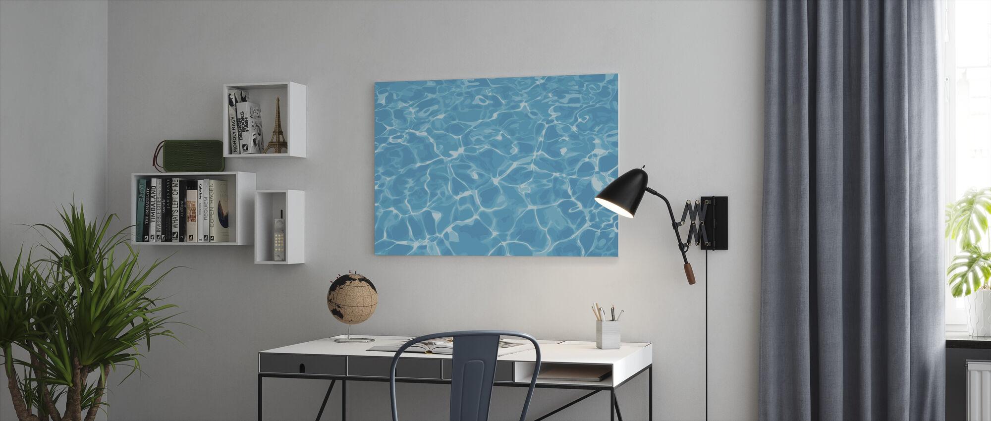 Reflektion i vatten - Canvastavla - Kontor
