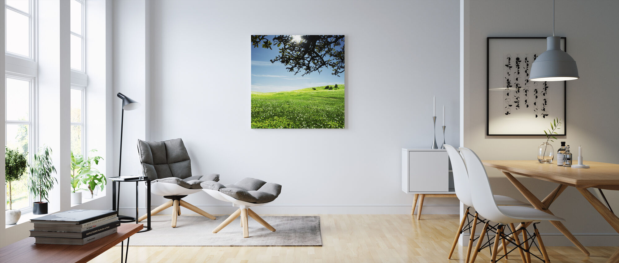 Green Meadow - Canvas print - Living Room