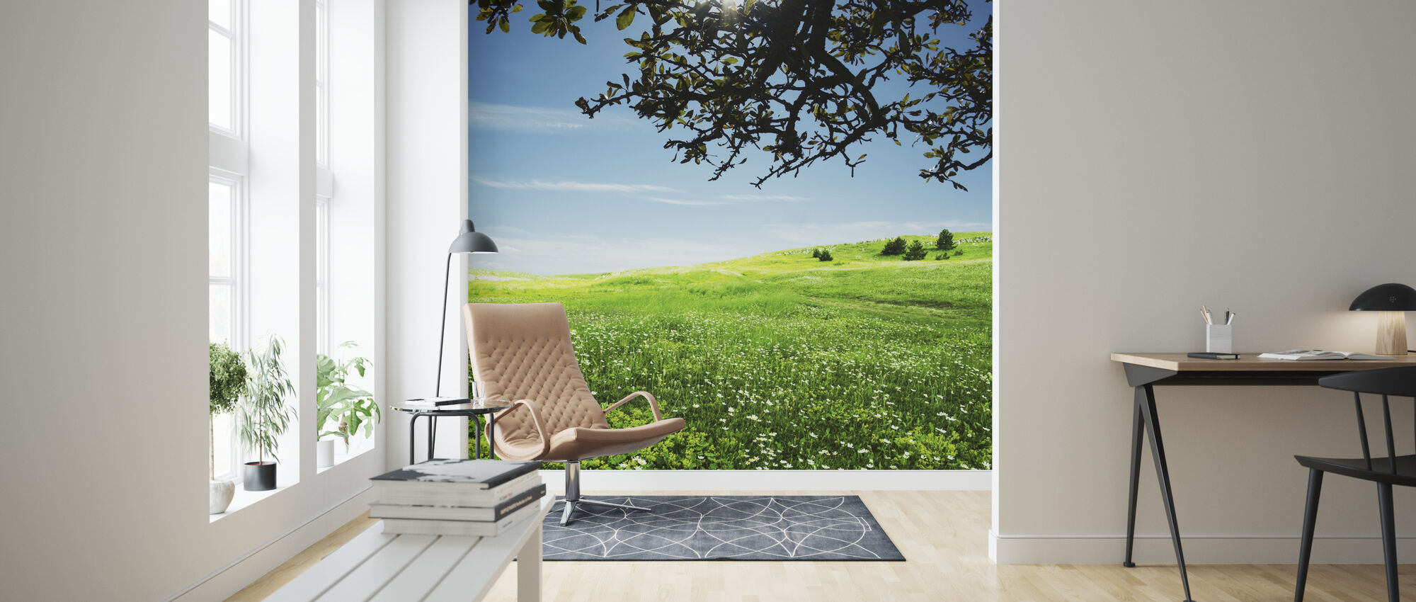 Green Meadow - Wallpaper - Living Room