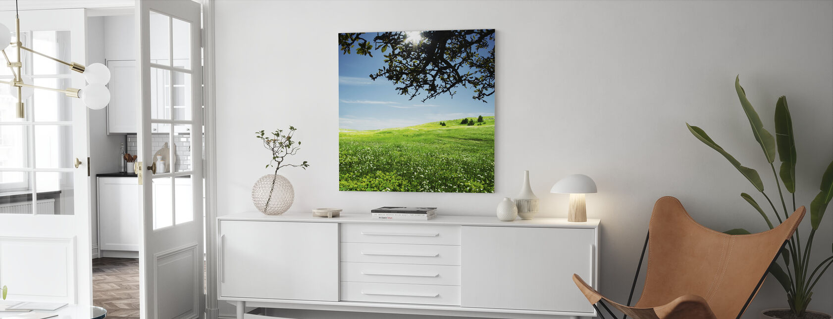 Green Meadow - Canvas print - Living Room