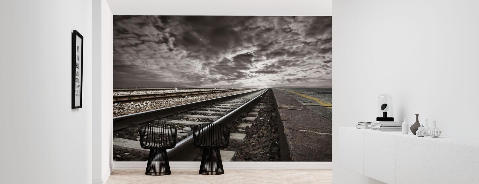 Empty Railway Tracks - Wallpaper - Hallway