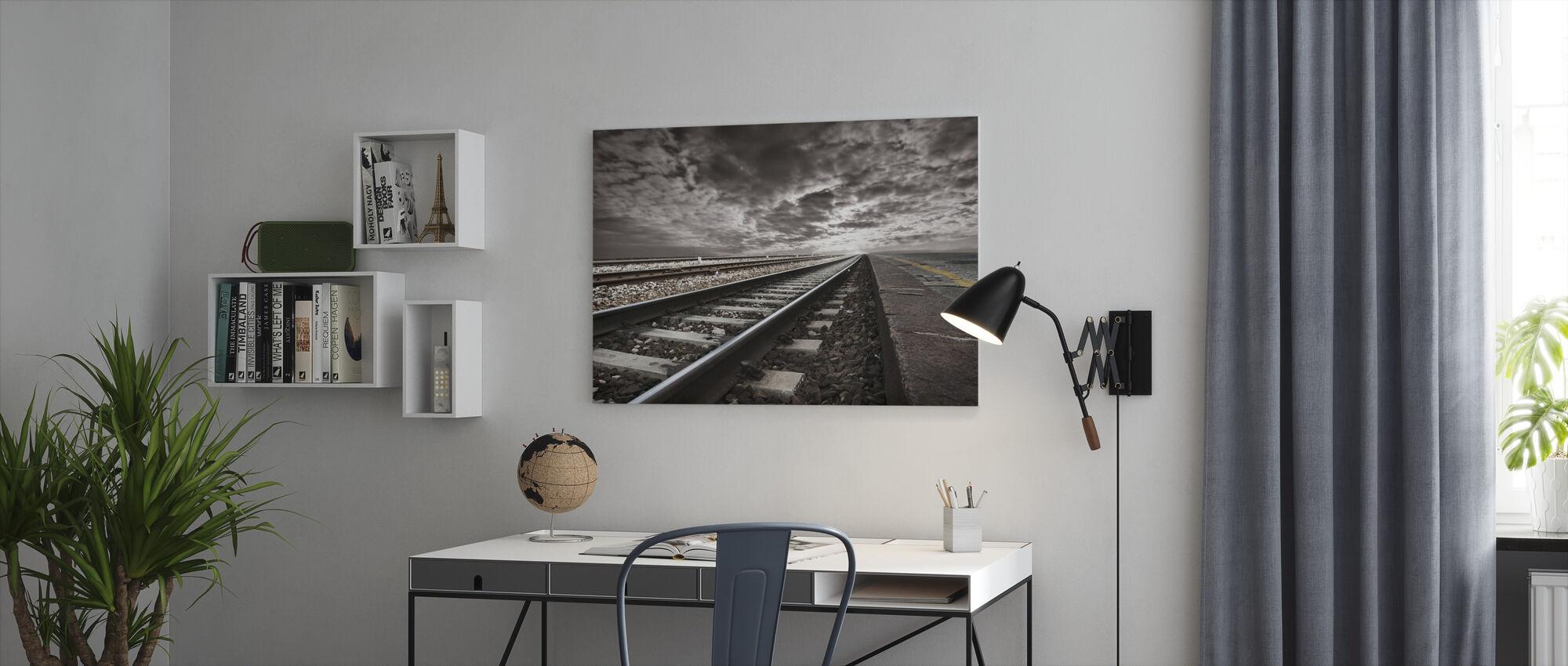 Vaciar vías ferroviarias - Lienzo - Oficina