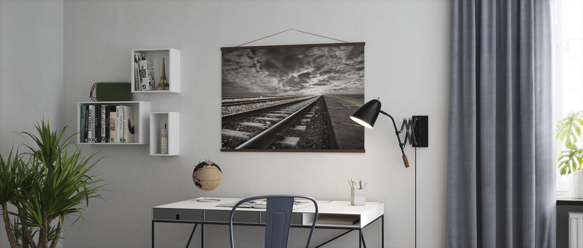 Lege spoorwegen - Poster - Kantoor