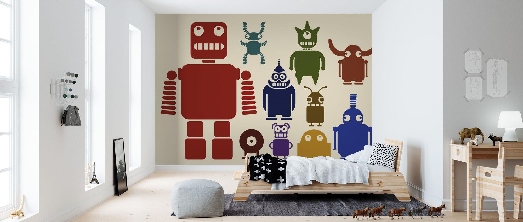 Team van Robots - Behang - Kinderkamer