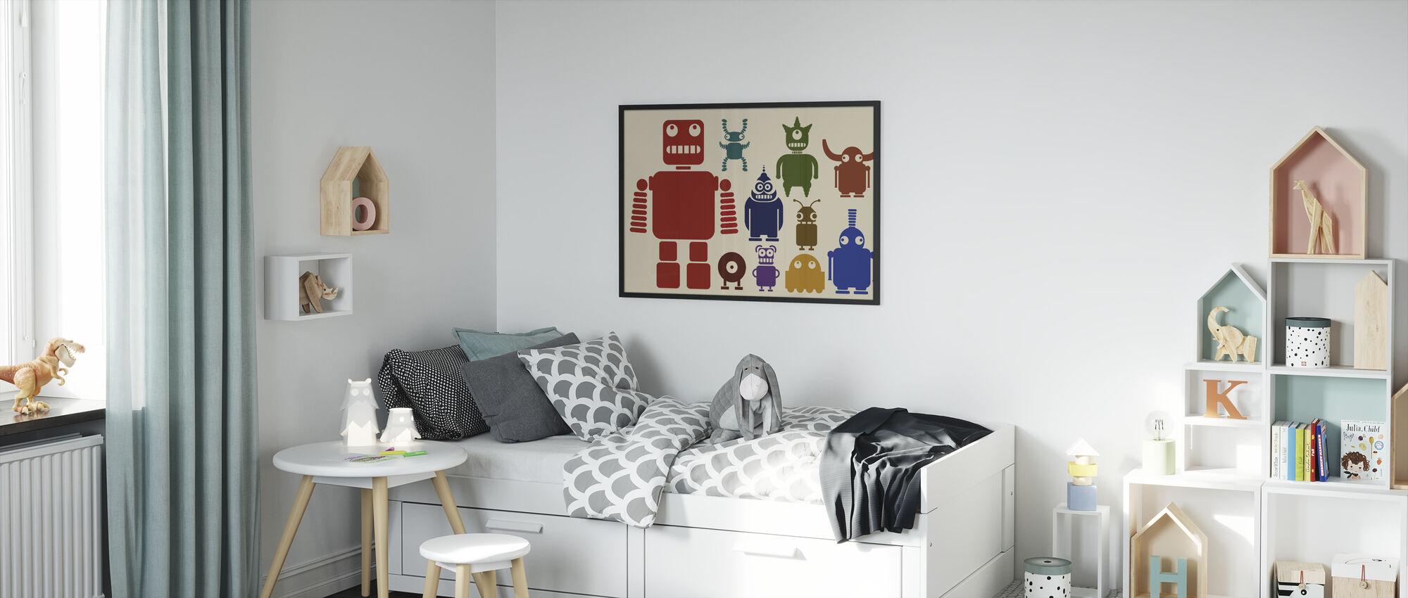 Team van Robots - Ingelijste print - Kinderkamer
