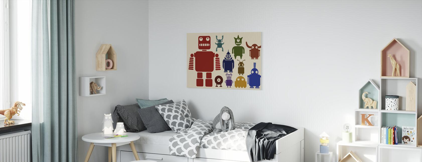 Team van Robots - Canvas print - Kinderkamer