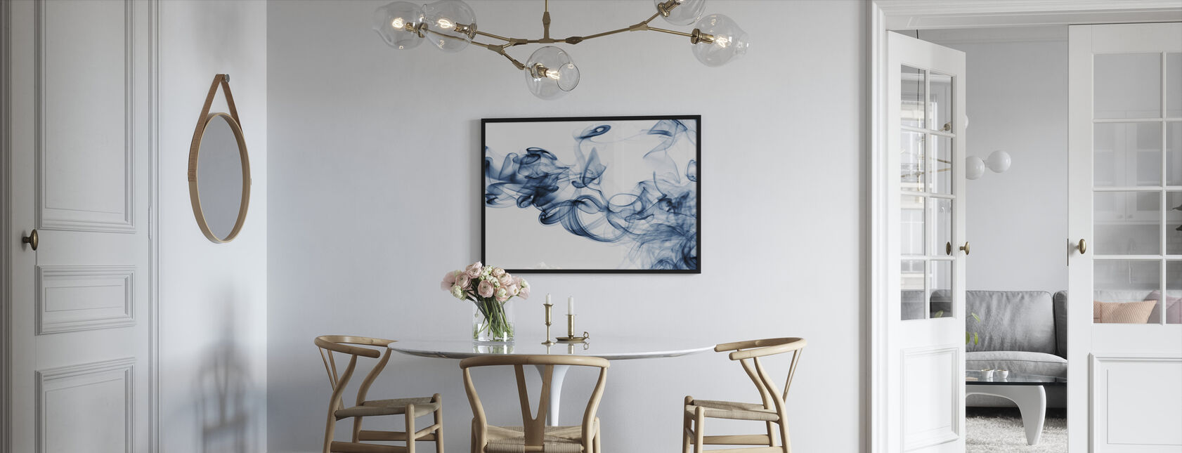 Streams of Smoke - Framed print - Kitchen