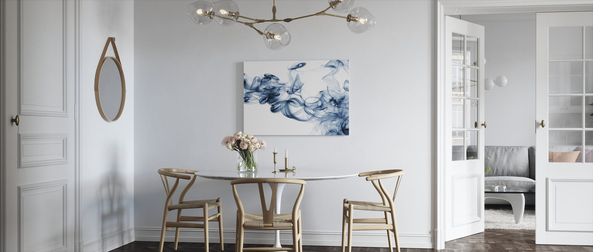 Stromen van rook - Canvas print - Keuken